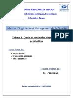 methodes et outils de gestion de production