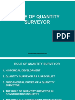 Roll of Quantity Surveyor