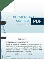 Flexión - Esfuerzos Tangenciales RESISTENCIA DE LOS MATERIALES
