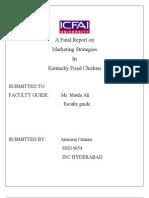 [Sem-10]-Marketing strategies at KFC final report-Ameena Osman