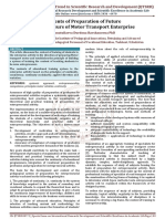 Contents of Preparation of Future Entrepreneurs of Motor Transport Enterprise
