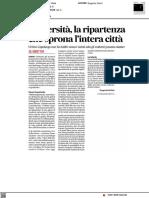 Università, la ripartenza che sprona l'intera città - Il Corriere Adriatico del 3 maggio 2021