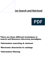 Information Search and Retrieval