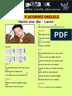 Hasta Ese Día LASSO- Letra y Acordes Ukelele Liche UK