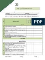 CCTV System Installation Checklist