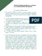 Estudo sobre a história da língua portuguesa e a evolução semântica e evolução fonética das palavras