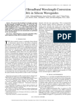 Demonstration of broadband wavelength conversion at 40 Gbps in silicon waveguides
