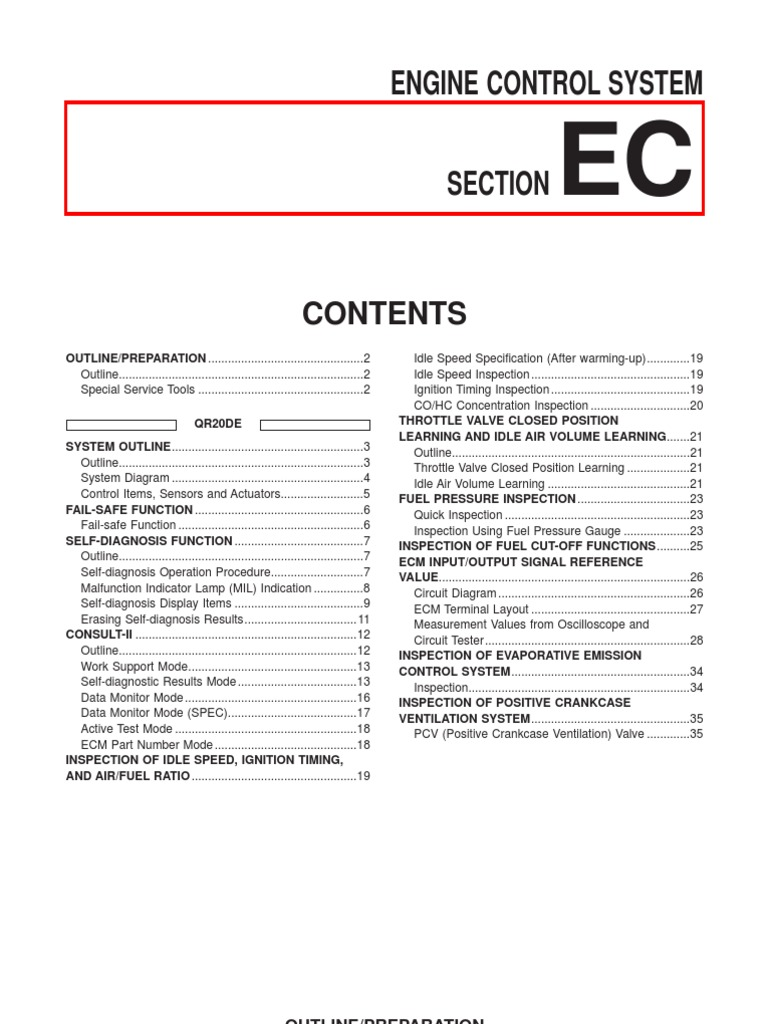 Nissan Sentra Service Manual: L terminal circuit (short)