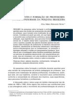 SABERES DOCENTES E FORMAÇÃO DE PROFESSORES