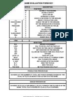 DLine Evaluation Form