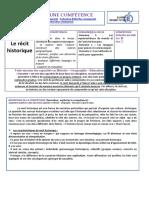 COMPETENCE Le Recit Historique SBar SBel YP