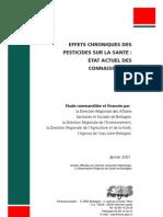 Effets Chroniques Des Pesticides Sur La Sante_2001
