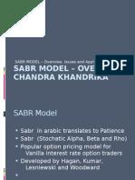 SABR Model – Overview