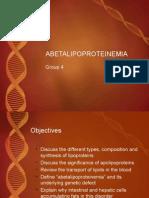 Abetalipoproteinemia Final