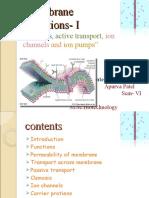 Membrane Functions- I