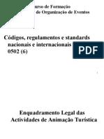 UFCD 0502 - Códigos, Regulamentos e Standards Nacionais e Internacionais