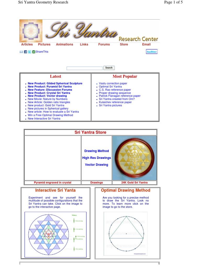 sriyantra | Mantra | Geometry