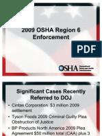 2009 Region OSHA Enforcement