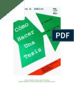 Sabino, J. C. Como hacer una tesis (Libro completo)