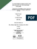 A STUDY ON CUSTOMER SATISFACTION AND CUSTOMER LOYALTY AT VST MOTORS