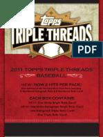 2011 Topps Triple Threads Baseball Sell Sheet