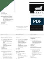 Programa congreso EDIPO
