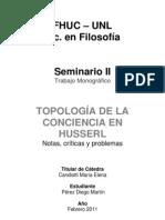 Husserl y la topología de la conciencia