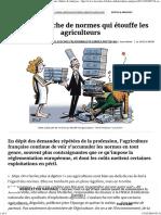 Cette Avalanche de Normes Qui Étouffe Les Agriculteurs, Editos & Analyses