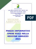 1) AVVERTENZE GENERALI Prezzario REGIONE ABRUZZO 2021