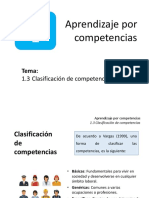 Bloque 1.3. Clasificación de competencias