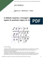 Alfabeto Maçônico