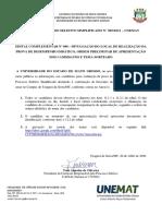 Edital Complementar 006 005-2021 - Divulgação PRELIMINAR de Temas e Ordem Dos Candidatos