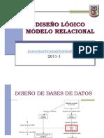 BD -  Sesión 4 - Diseño Lógico - Modelo Relacional