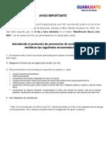 Becas León 2021 resultados primaria