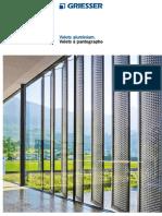Volet pantographe Brochure /PUIGMETAL®