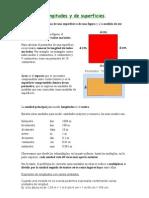 Medida de longitudes y de superficies