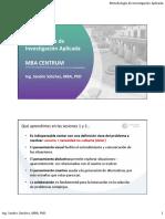 Metodología de Investigación Aplicada - MBA CENTRUM - Sesiones 3 y 4 (2)