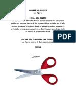 ANALISIS TECNOLOGICO Las tijeras