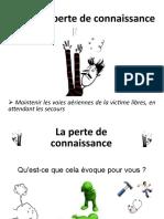 Présentation PSC1 - Perte Connaissance Et Arrêt Cardiaque