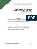 Relacoes Etnico Raciais Educacao e Desco