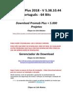 Promob Plus 2018 5.000 Projetos Instruções