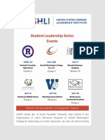 Invite USHLI to Your Classroom for an End-Of-Year Student Leadership Series Motivational Rally Workshop!