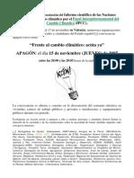 APAGON 15-NOV-07 presentación Informe ONU sobre cambio climático
