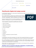 Planificación Digital Del Trabajo Escolar