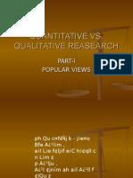 Quantitative vs. (?) Qualitative Analysis in Psychology