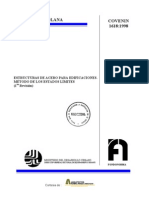 Covenin 1618-1998 Estructuras de Acero Para Edificaciones