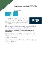 Conexiune automata PPPoE