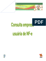 consulta empresa usuaria NF-e-