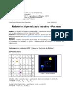 Relatório Aprendizado Indutivo - Pacman