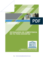 Estandaresde Competencias en TIC para docentes- UNESCO